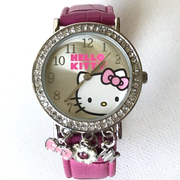 02794ad09 Sanrio Accessories | Hello Kitty Watch Silver Pink Womens | Poshmark